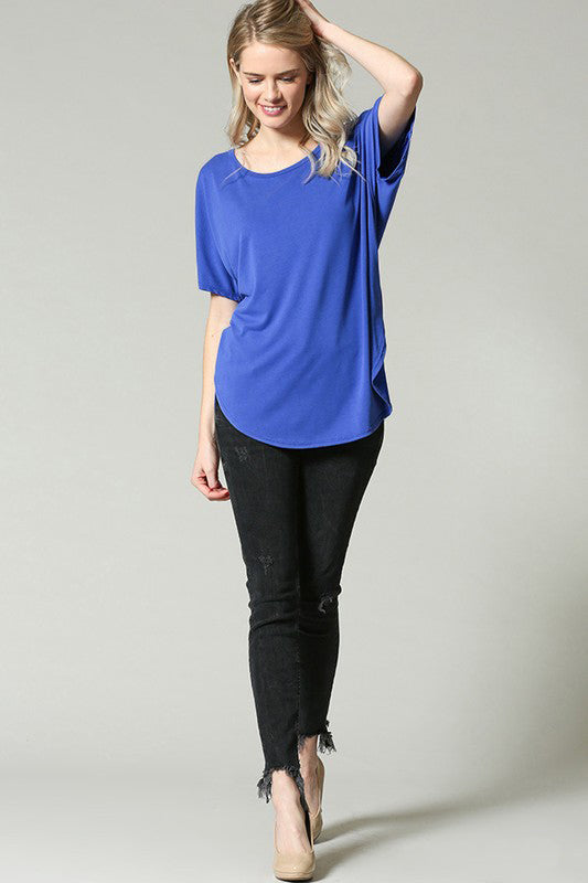 Royal Blue Boxy Top - Creek & Co