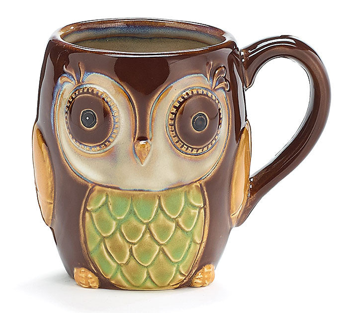 Chocolate Brown Owl Mug - Creek & Co