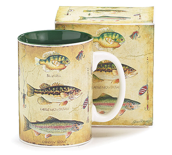 Trio of Fish, Lures and Hooks Mug - Creek & Co
