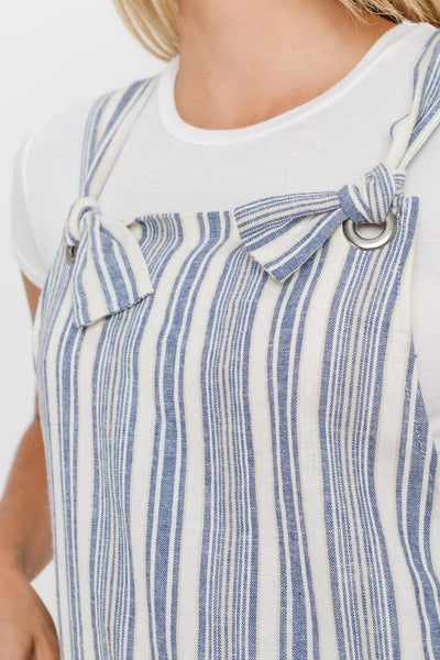 Striped Overall Pocket Dress - Creek & Co
