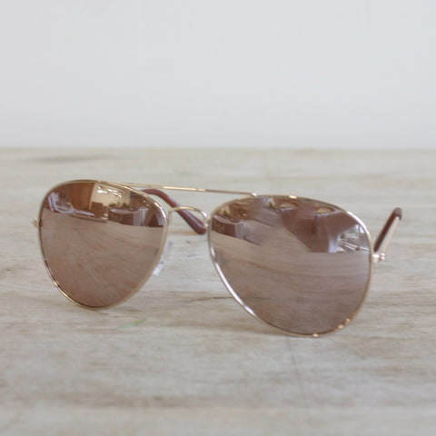 Aviator Sunglasses in Rose & Gold - Creek & Co