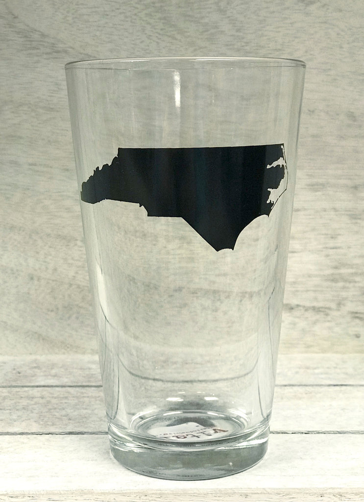 Black State Pint Glass