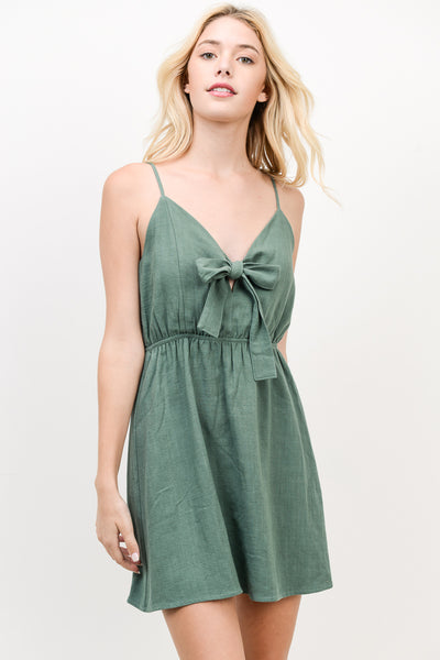 Olive Tie Front Dress - Creek & Co