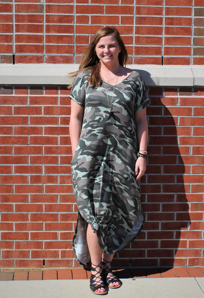 Camouflage Terry Maxi Dress - Creek & Co