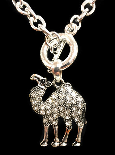 Silver Rhinestone Camel Toggle Necklace - Creek & Co