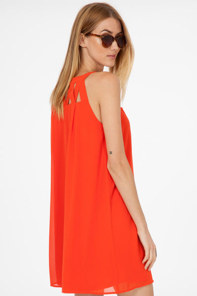 Orange Cross My Heart Dress
