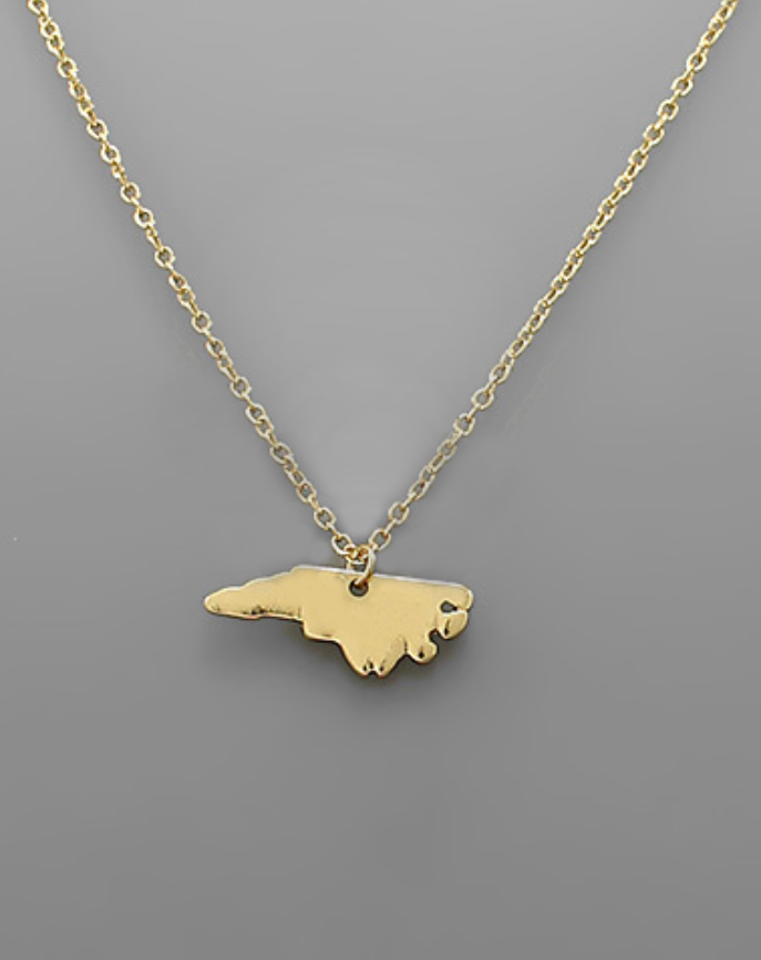 NC State Gold Necklace - Creek & Co