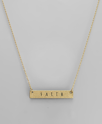 Faith Plate Necklace