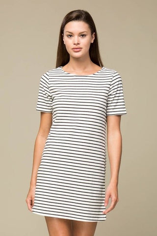 Black Stripe Shift Dress - Creek & Co