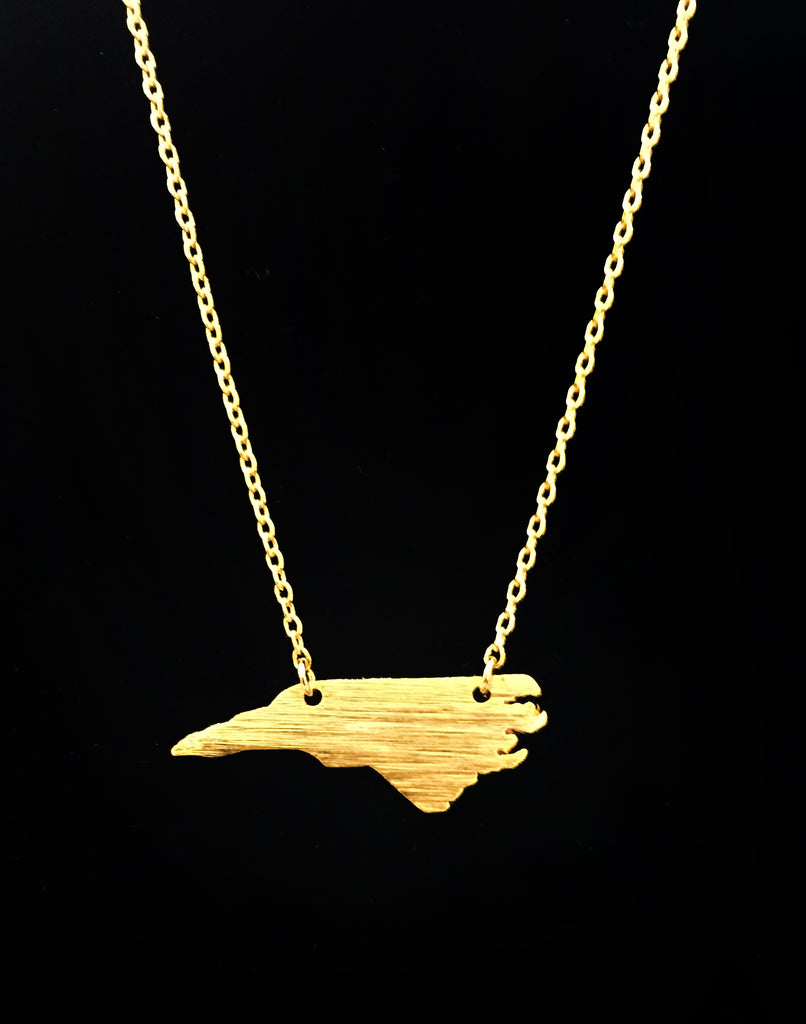 Brushed Gold North Carolina Necklace