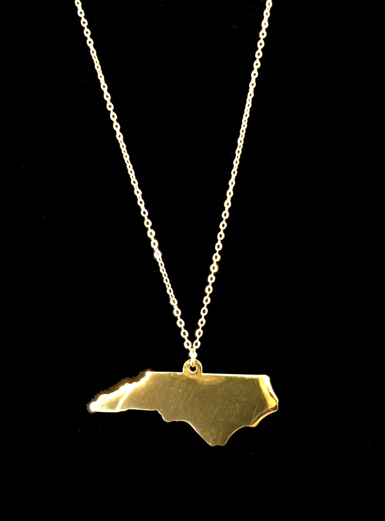 Large Gold North Carolina Charm Necklace - Creek & Co