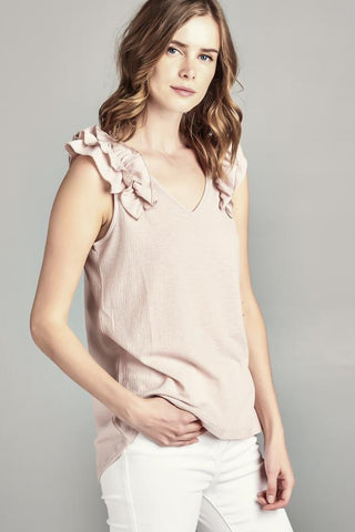 Ruffle Shoulder Tank
