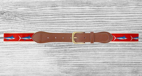 Men's Belt Red Marlin - Creek & Co