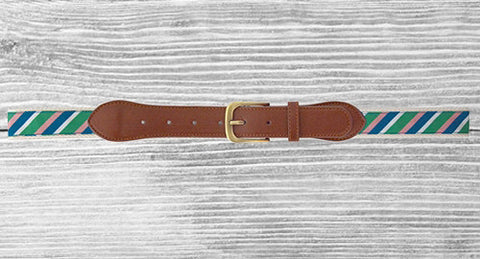 Men's Belt Multi Stripe - Creek & Co