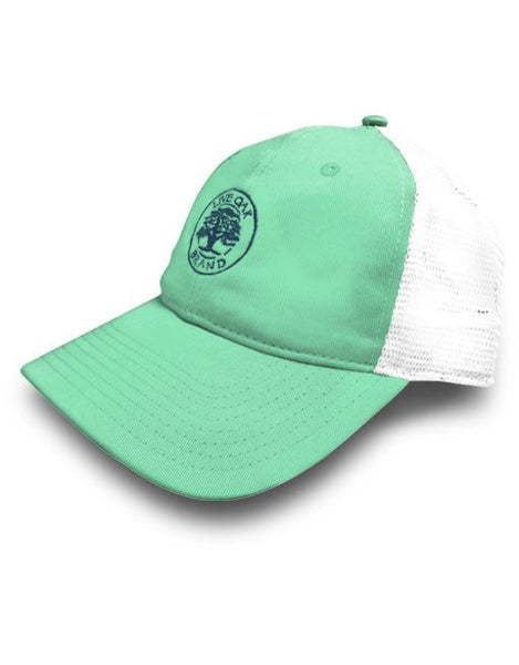 Live Oak Aqua Trucker Hat - Creek & Co