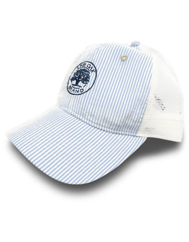 Live Oak Seersucker Trucker Hat - Creek & Co