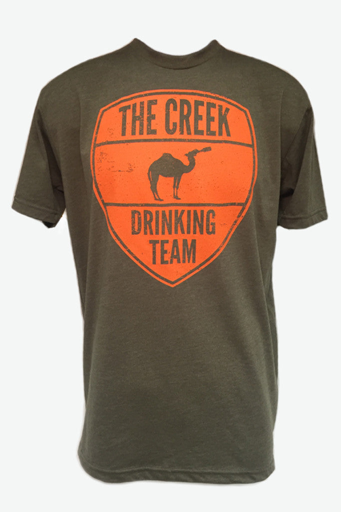 Military Green Creek Drinking Team Tee - Creek & Co