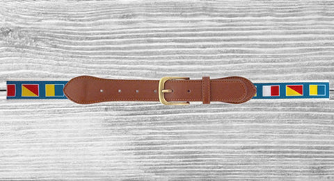 Men's Belt Nautical Flags