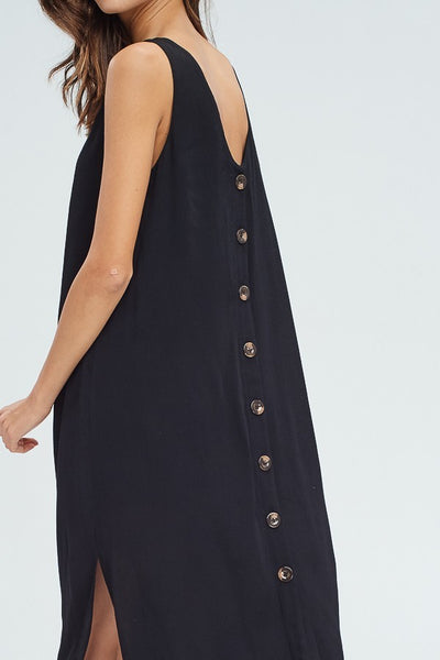 Black Back Button Dress - Creek & Co