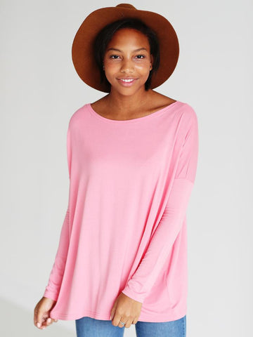 Strawberry Ice Long Sleeve Piko - Creek & Co