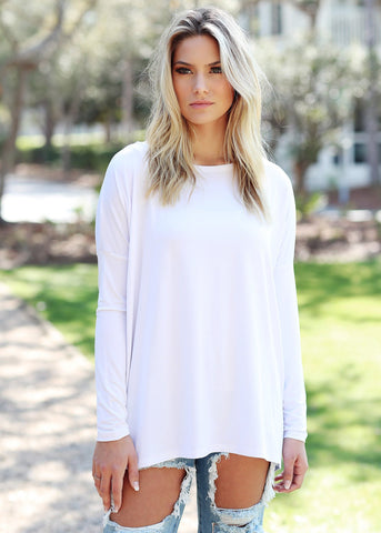 White Long Sleeve Piko