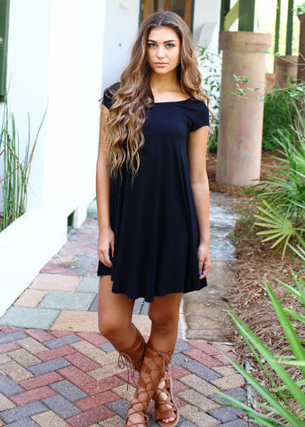 Black Piko Dress