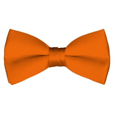 Solid Orange Pre-Tied Bow Tie - Creek & Co