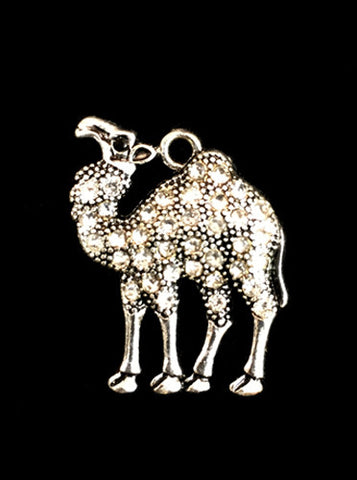 Silver Rhinestone Camel Charms - Creek & Co
