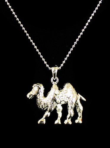 Silver Rhinestone Camel Necklace