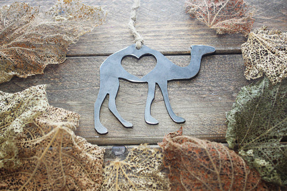 Camel Rustic Steel Ornament