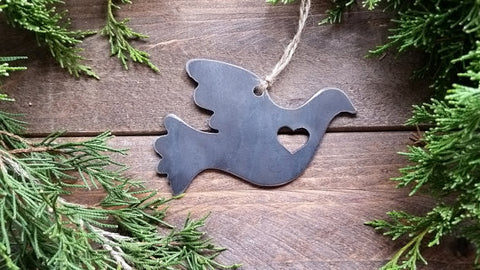 Dove Rustic Steel Ornament - Creek & Co
