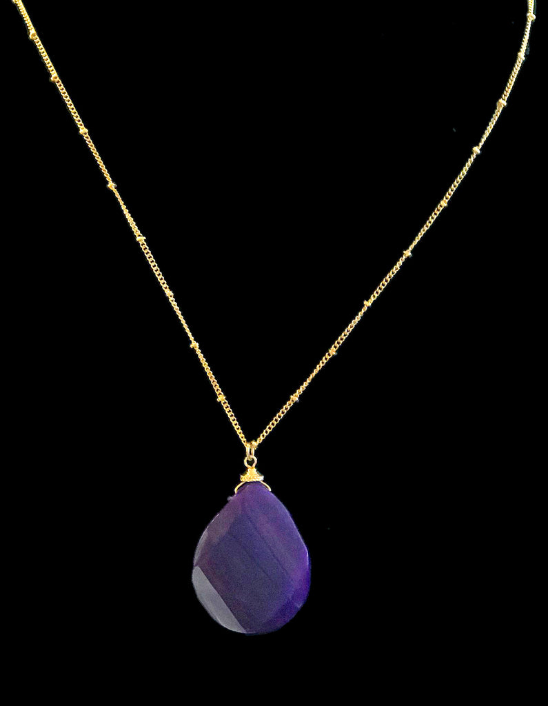 Purple Gemstone Pendant Necklace