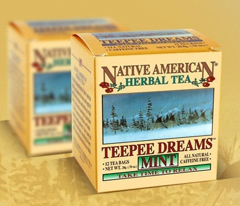 TeePee Dreams Mint - Native American Herbal Tea 12ct (6 pack)