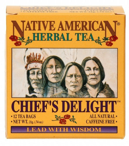 Chief's Delight - Native American Herbal Tea 12ct (6 pack)