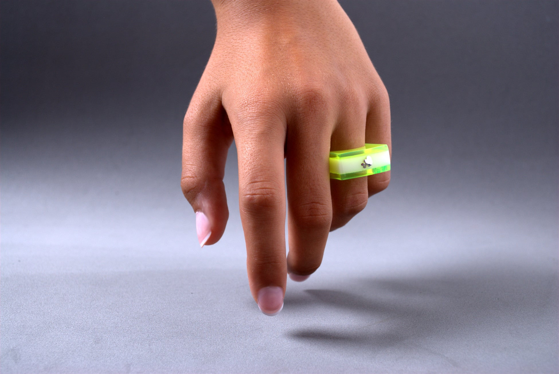 Anillo Papaiona T12Onto - Tricolour Fluo Lime