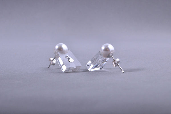 Pendientes Papaiona Trapeze Crystal Ice