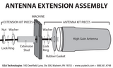Antenna Extension Assembly diagram