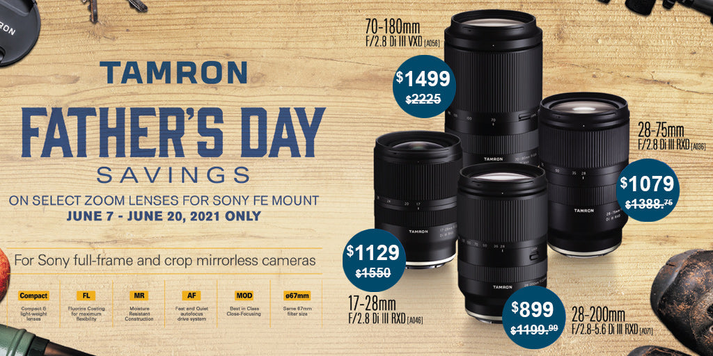 Tamron Father's Day Sale