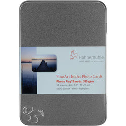 "Hahnemuhle - Photo Rag® Baryta 4x6"", 30 Cards in tin Hahnemuhle box"