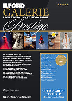 "Prestige Cotton Artist Textured 17""x22"", 25 sheets (Special Order)"
