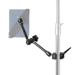 "Rock Solid Articulating Arm, 11"" (28cm), with Hot Shoe 1/4""-20 Adapter"