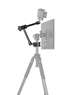 "Rock Solid Articulating Arm, 7"" (18cm), with Hot Shoe 1/4""-20 Adapter"