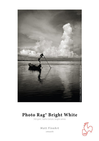 "Hahnemuhle - Photo Rag BRIGHT WHITE 310 gsm, 17""x39' 1 Roll, 3"" core"
