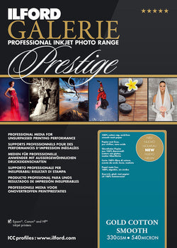 "Prestige Gold Cotton Smooth 8.5""x11"", 25 sheets"