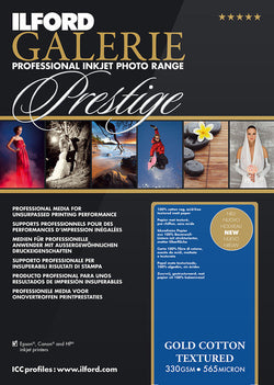 "Prestige Gold Cotton Textured 8.5""x11"", 25 sheets"