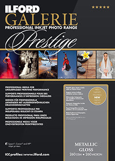 "Prestige Metallic Gloss 13""x19"", 50 sheets"