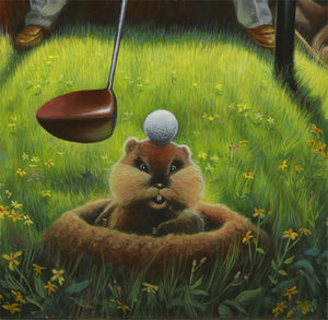 CADDYSHACK BUSHWOOD - Fine Art Giclée print in 3 sizes - framed or unframed