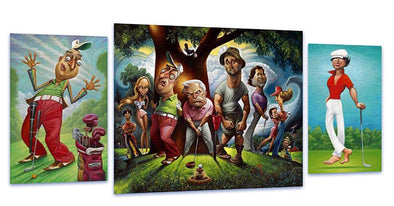 Caddyshack 3-Piece Collector Art Ensemble