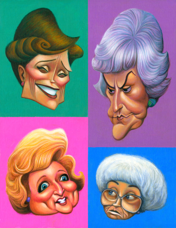 A Tribute to The Golden Girls | Giclée Print or Poster | Gifts for Golden Girls Fans