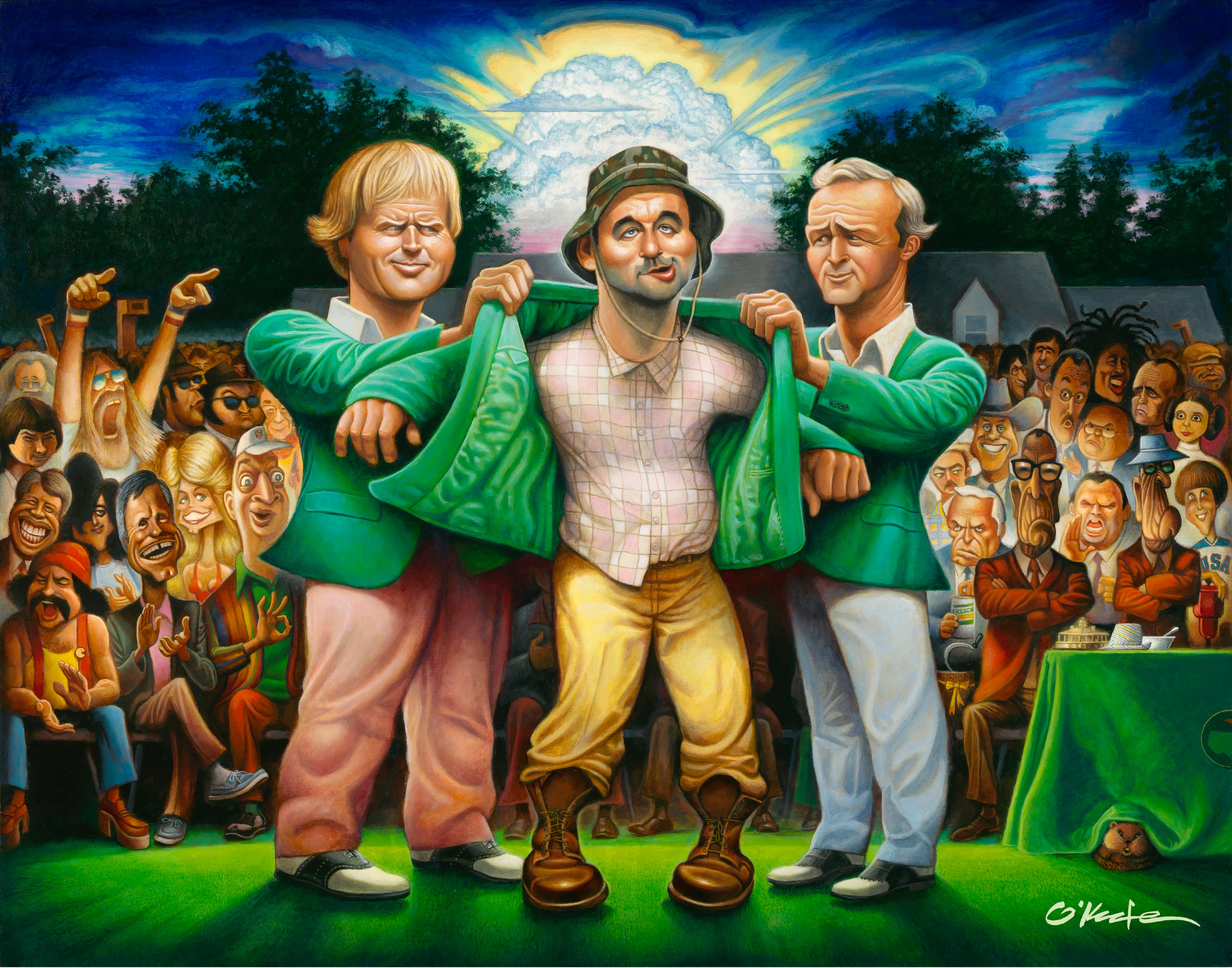 THE GREEN JACKET - A TRIBUTE TO CARL SPACKLER & 1980 - Fine Art Giclée print in 3 sizes - framed or unframed